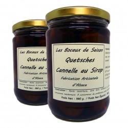 Lot de Quetsches cannelle au sirop-confiture-confit-chutney-allégé-vinaigre-Les Bocaux de saison-Alsace-Strasbourg-Molsheim